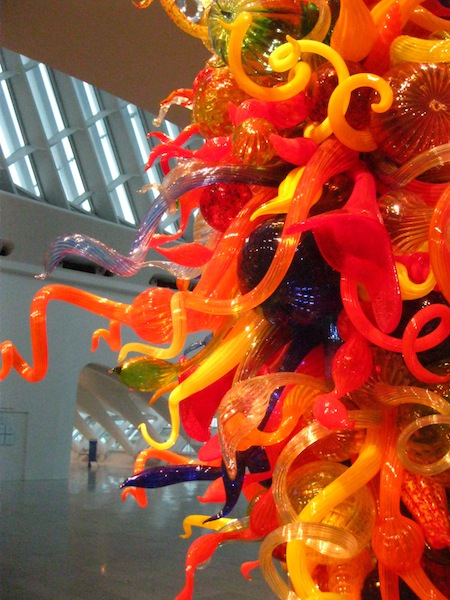 Detail of Dale Chihuly (American, b. 1941), Isola di San Giacomo in Palude Chandelier II, 2000. Blown glass. Milwaukee Art Museum, Gift of Suzy B. Ettinger in memory of Sanford J. Ettinger. © 2012, Dale Chihuly.