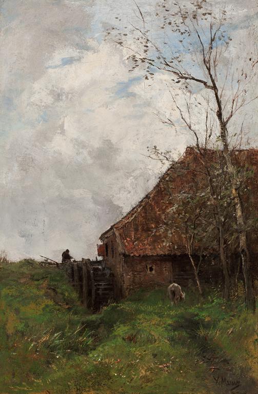 Anton Mauve (Dutch, 1838–1888). The Water Mill, ca. 1880. Oil on canvas. Milwaukee Art Museum, Layton Art Collection, Gift of Rev. David Keene. Photo credit John R. Glembin