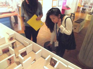 Rachelle and Victoria at the exhibition model in the Kohl's Art Generation Lab. Photo by Emerald Summers