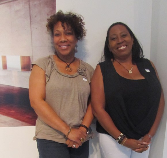 Sherri Rogers and Linda Ranson visit the Museum on August 30, 2013. Photo by the author.