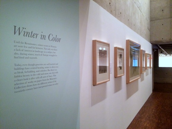 "View of ""Winter in Color"" Mezzanine Installation. Photo by Chelsea Kelly"