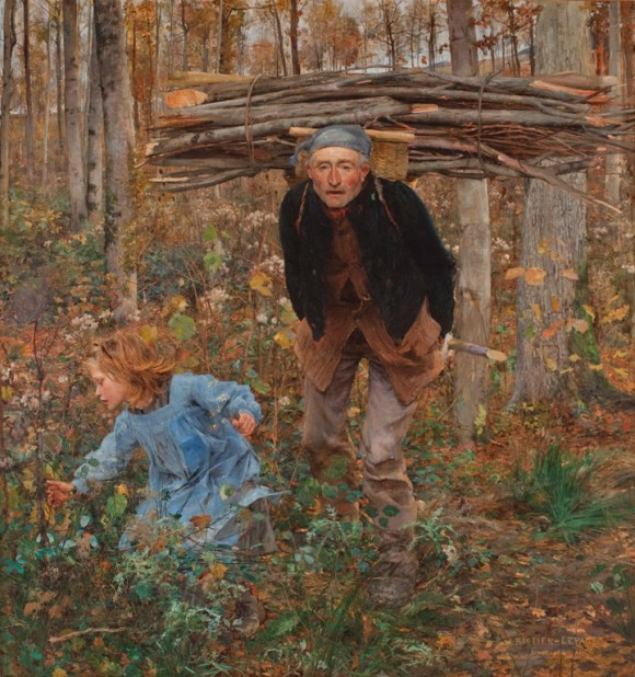 Jules Bastien-Lepage (French, 1848–1884), Le Père Jacques (Woodgatherer), 1881. Oil on canvas. Miwlaukee Art Museum, Layton Art Collection, Gift of Mrs. E. P. Allis and her daughters in memory of Edward Phelps Allis L102. Photo credit: John R. Glembin.