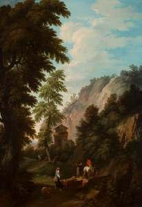 Andrea Locatelli (Italian, 1695–1741), Landscape with a River and a Group of Figures Near A Roman Altar, ca. 1730. Oil on canvas. Milwaukee Art Museum, Gift of Mr. and Mrs. William D. Kyle, Sr. M1967.126. Photo credit: John R. Glembin.