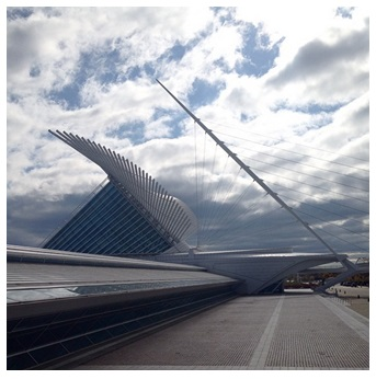 View of the Milwaukee Art Museum. Photo by Melissa Marchese