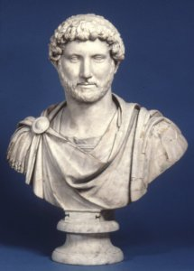Portrait bust of the Roman emperor Hadrian wearing military dress, ca. AD 125–130. Marble. The British Museum 1805,0703.95. © Trustees of the British Museum.