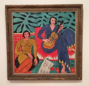 "Matisse's colorful ""La Musique"" is featured in the exhibition Van Gogh to Pollock: Modern Rebels. Come check it out! Photo by the author."