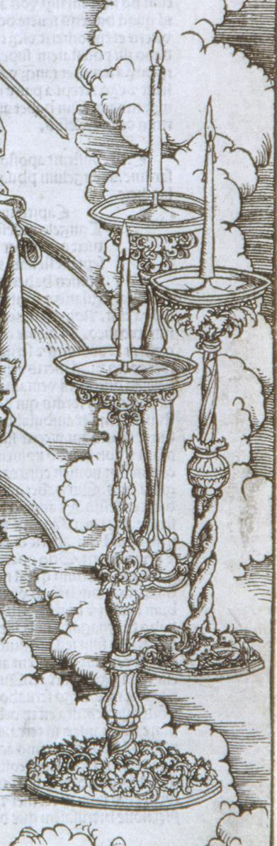 Detail of candlesticks