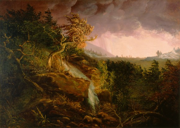 Thomas Cole (American, b. England, 1801–1848), Storm in the Wilderness, 1826–28. Oil on canvas. Milwaukee Art Museum, Layton Art Collection, Inc., Purchase L1968.25. Photo credit: Larry Sanders.