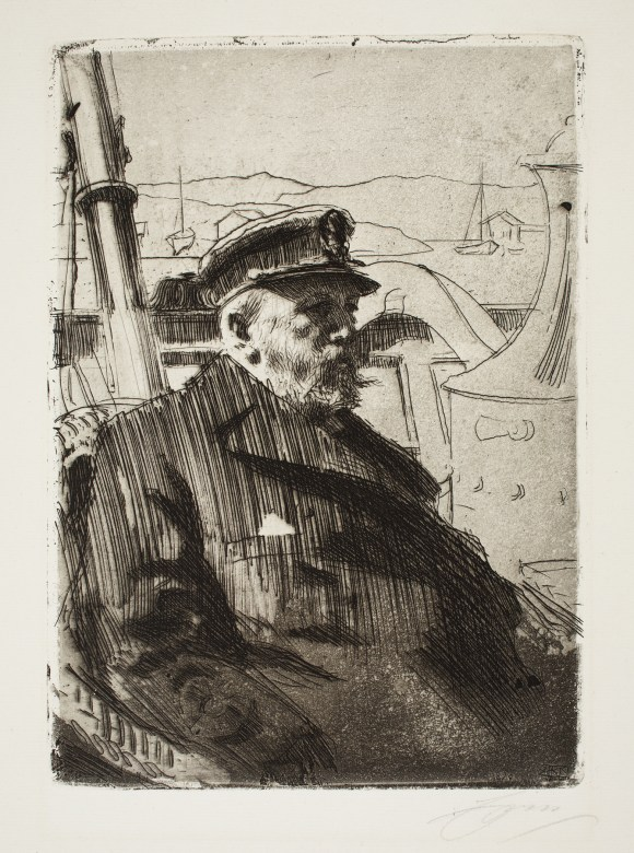 Anders Leonard Zorn (Swedish, 1860–1920), King Oscar II (or Oscar II), 1898. Etching and aquatint. Milwaukee Art Museum, Gift of Mrs. Joseph Greene M1979.23. Photo credit: John R. Glembin.