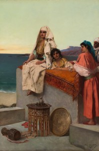 Jean Joseph Benjamin Constant (French, 1845–1902), Evening on the Seashore—Tangiers, ca. 1891. Oil on canvas. 58 1/2 × 39 3/4 × 1 1/4 in. (148.59 × 100.97 × 3.18 cm). Milwaukee Art Museum, Gift of Marie K. Ingersoll and George L. Kuehn M1962.1158. Photo credit: John R. Glembin.