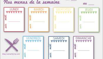 Organiser Ses Menus De La Semaine Quand On Est Debordee Priorite Ou Pas Le Journal D Une Mam An Forme