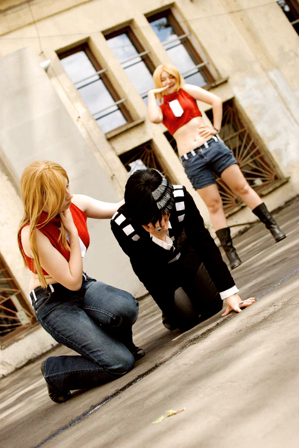 Best cosplay Soul Eater Death the kid Patty Liz thompson anime streaming manga tv legal gratuit by_inuchronicle