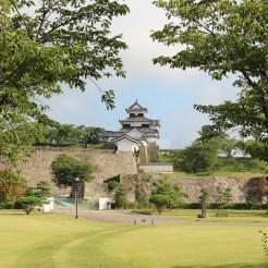 Blick vom Park auf die Burg