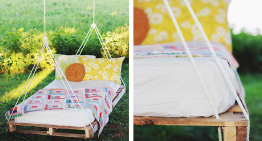 How to Make a DIY Pallet Garden Swing Bed