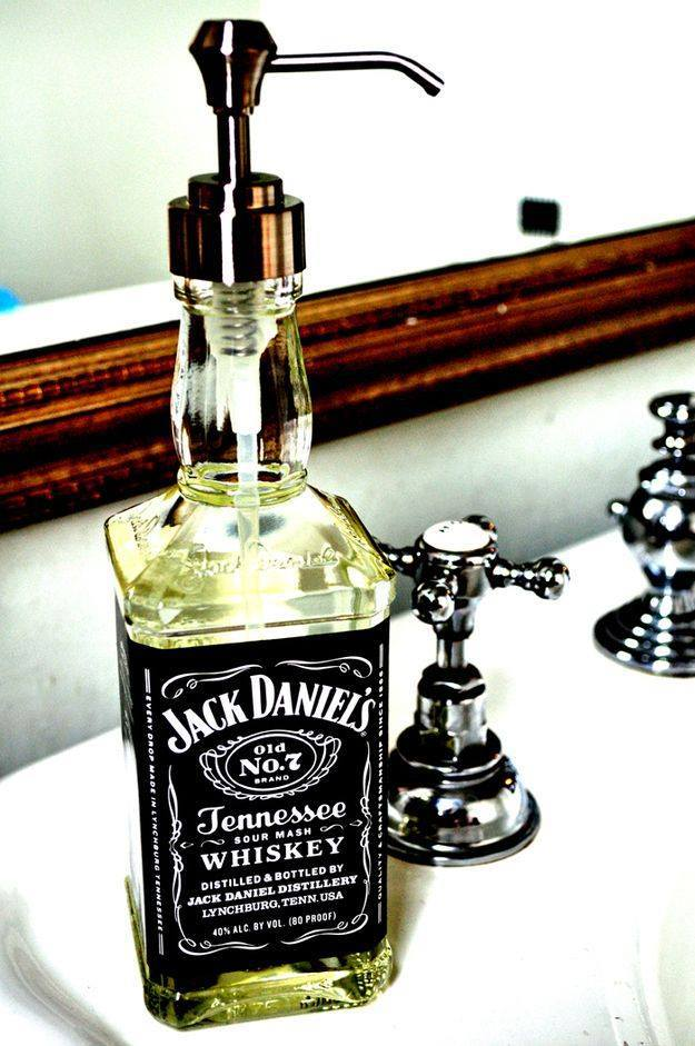 upcycle glass bottle ideas diy crafts soap