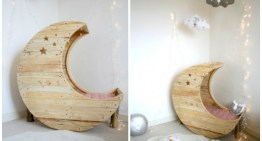 How to Make a DIY Pallet Moon Shaped Cradle