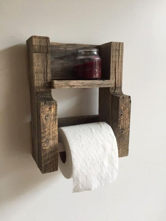 Pallet Projects Toilet Paper Holder Handy Mano ManoMano Mano Mano Handymano