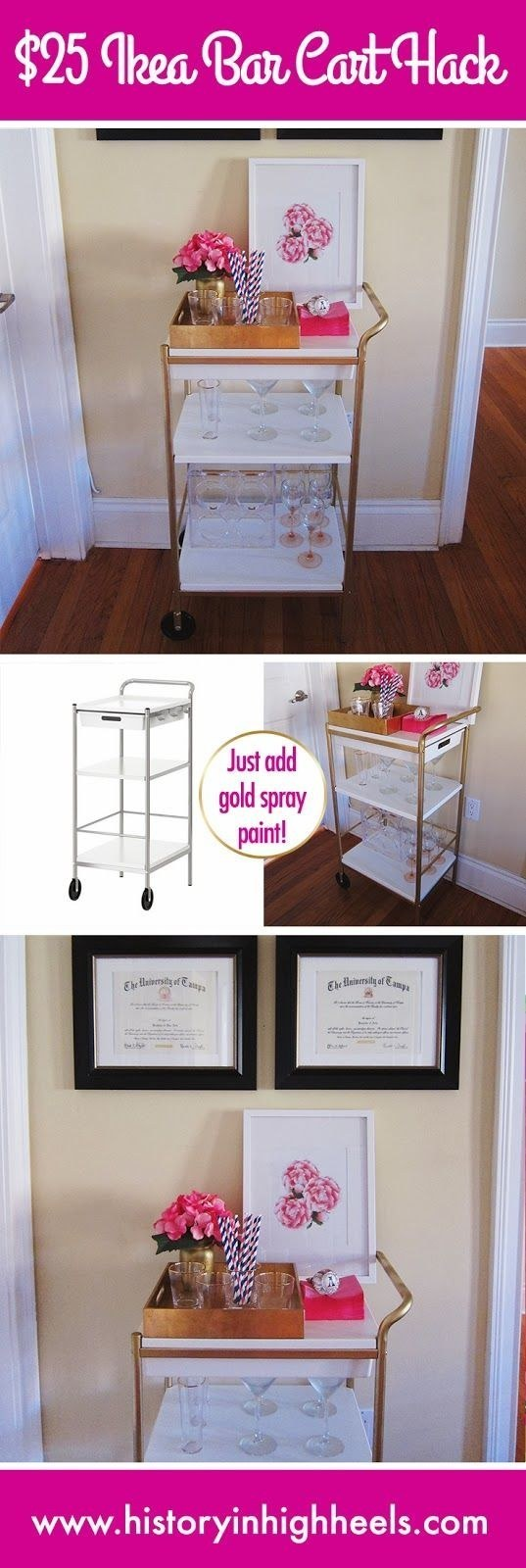 Ikea Furniture Hacks bar cart Handy Mano ManoMano Mano Mano Handymano