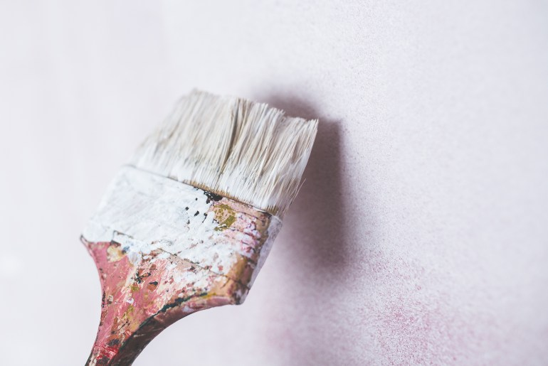 How To Make Your Own Glitter Paint DIY painting walls paint brush the handy mano mano manomano