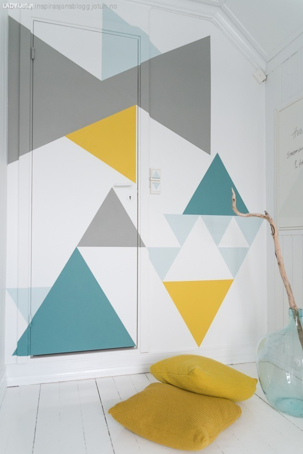 feature wall paint ideas the handy mano manomano mano mano geometric wall