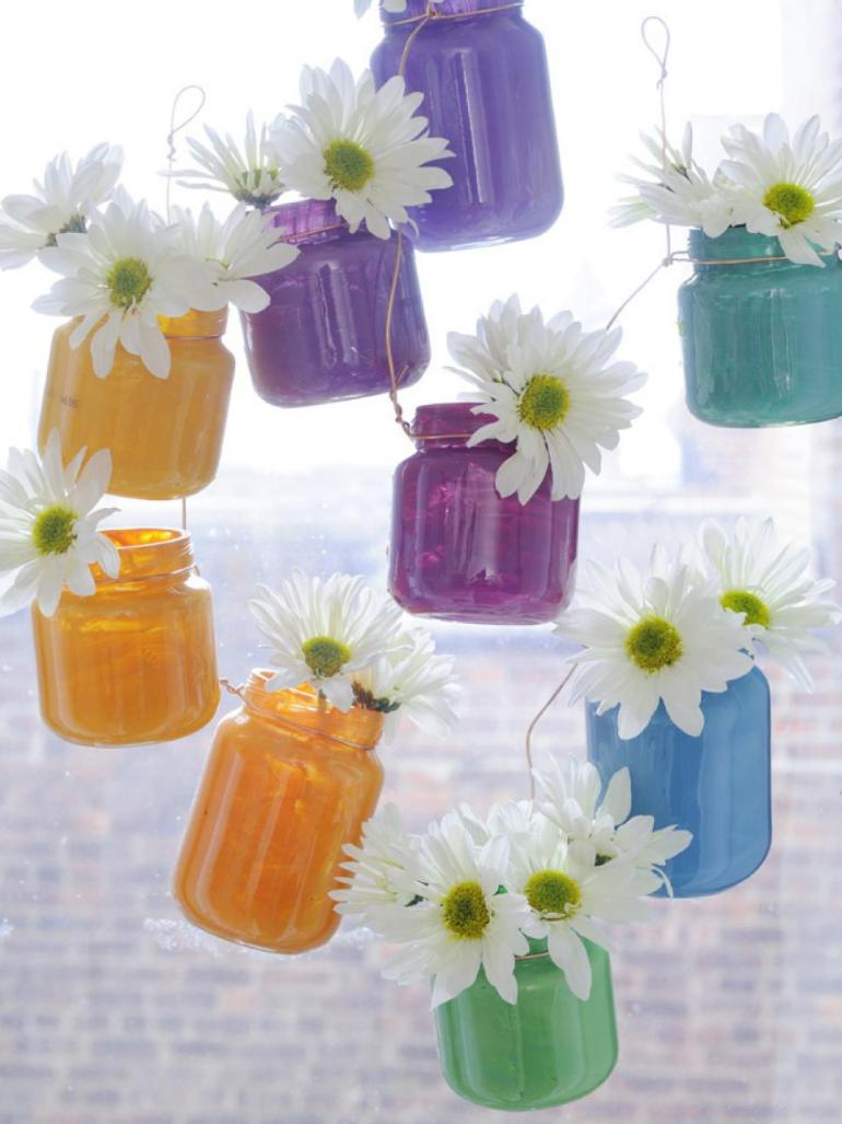 one pot paint projects glass jar upcycle flower vase