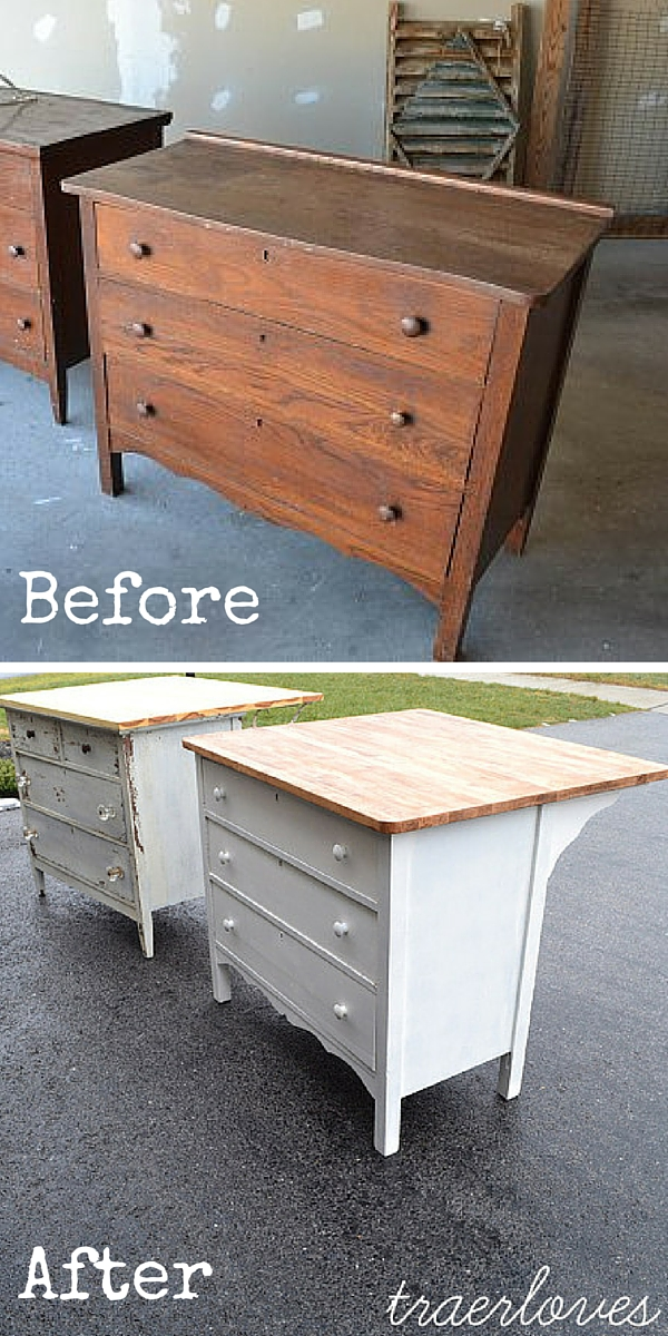 upcycled furniture upcycling reuse DIY The handy mano manomano dresser tables