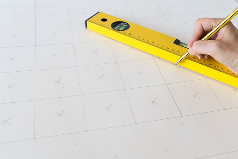 DIY connect 4 giant build your own homemade kids games activities children holidays spirit level ruler drawing grid