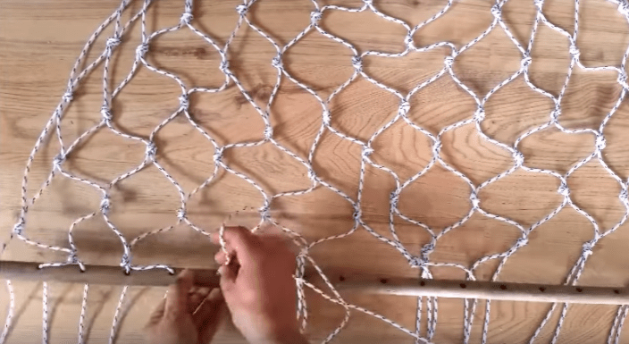 how to make a hammock The handy mano manomano diy build homemade white rope hammock net tying