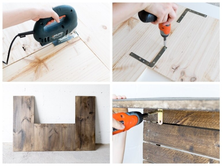 manomano mano mano the handy mano pallet bar wood pallet projects diy do it yourself bracket drilling drill countertop
