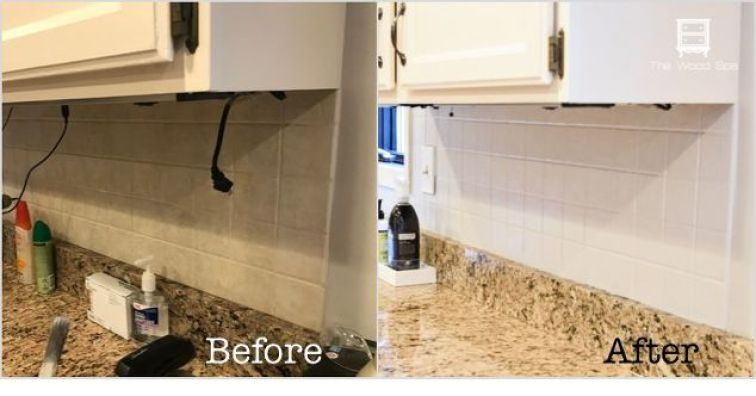 Hacks to Make Your Home Look Expensive the handy mano manomano diy do it yourself backsplash painted makeover