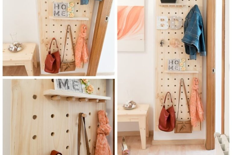 manomano mano mano the handy diy do it yourself projects build make do pegboard completed interior decor decoration