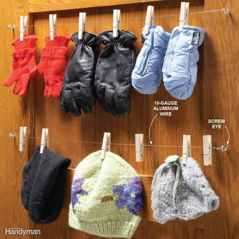 10 Clever Ways of Organising your Home the handy mano handymano manomano mano diy do it yourself projects home improvement organisation tips tricks hacks tidy clothes pegs cupboard door