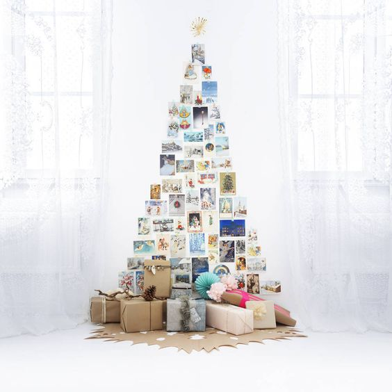 Alternative christmas trees alternative different tree the handy mano manomano mano diy do it yourself festive christmas cards on wall