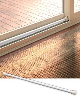 How to Secure Your Home During Winter thehandymano the handy mano manmano mano diy do it yourself protect from burglars tension rod french doors