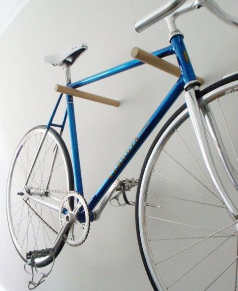10 Interesting DIY Bike Storage Ideas bike rack indoor display stand hook cool the handy mano manomano dowel