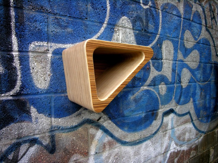 10 Interesting DIY Bike Storage Ideas bike rack indoor display stand hook cool wood wooden plywood sheets triangle