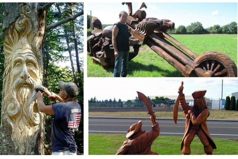 12 Incredible Chainsaw Carvings wood art artists manomano mano the handy mano