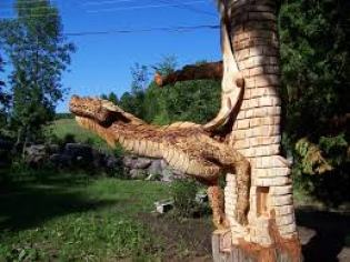 Incredible Chainsaw Carvings wood art artists manomano mano the handy mano dragon