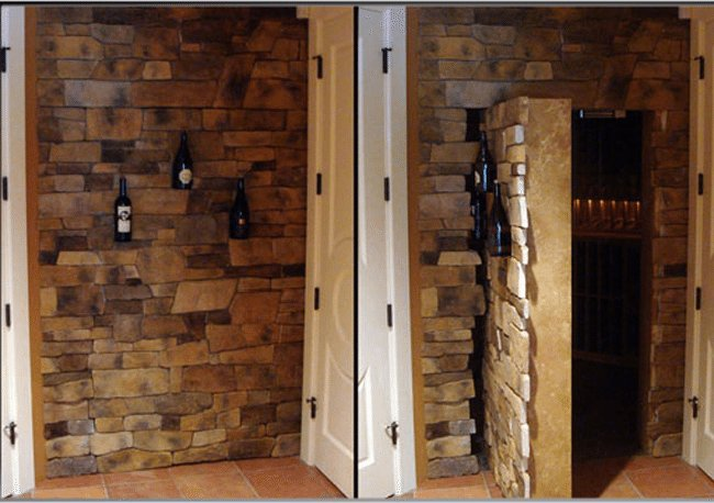 10 Incredible Hidden Doors secret rooms the handy mano manomano wine cellar wall brick