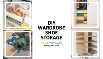 DIY Shoe Storage for your wardrobe
