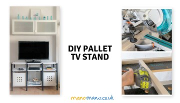 Pallet TV Stand DIY Tutorial