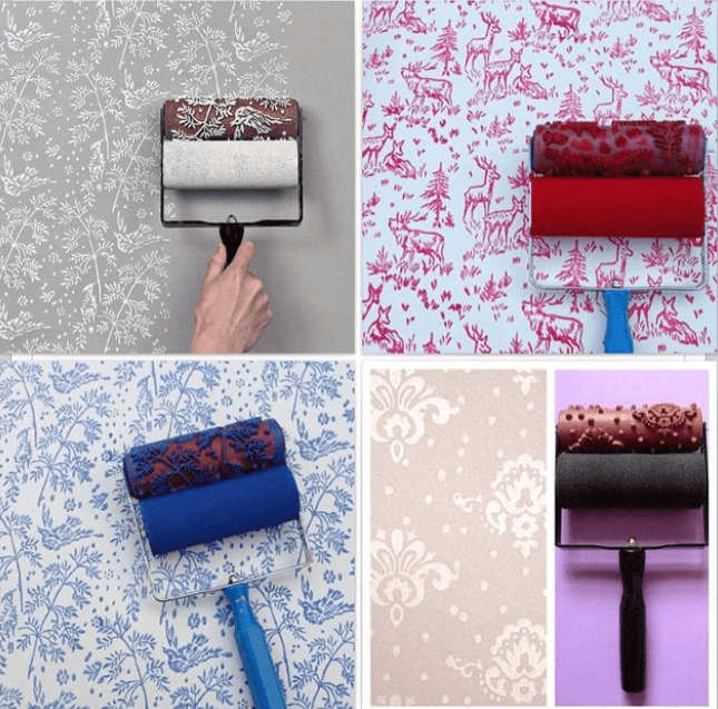 Make Your Own Custom Wallpaper With This DIY Paint Roller