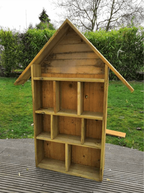 Build the back of the bug hotel