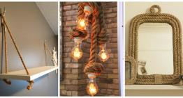 20 Ideas para decorar con cuerdas