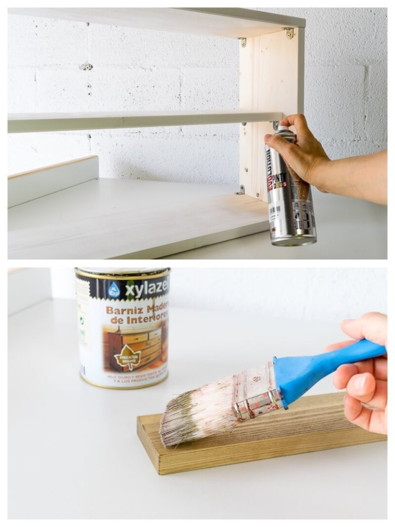 DIY Framed Picture Folding Desk Furniture for Small Spaces design a workspace diy do it yourself the handy mano thehandymano mano mano manomano spray paint painting wooden structure