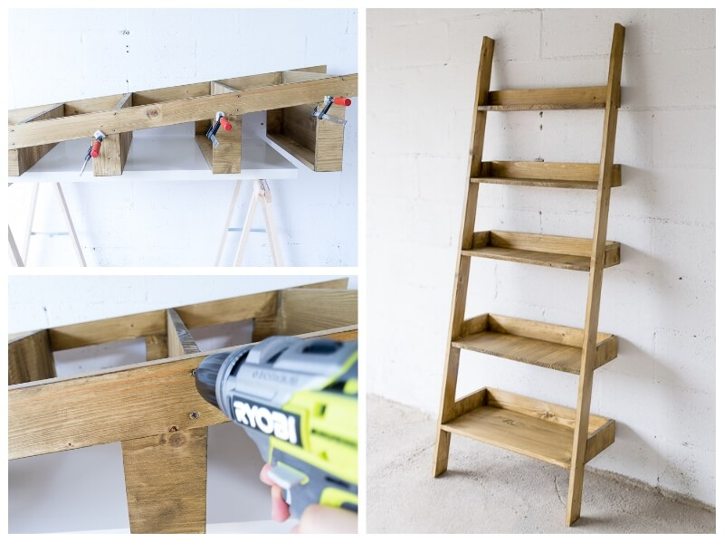 diy ladder shelf storage blanket shelf the handy mano manomano mano thehandymano do it yourself  assembly