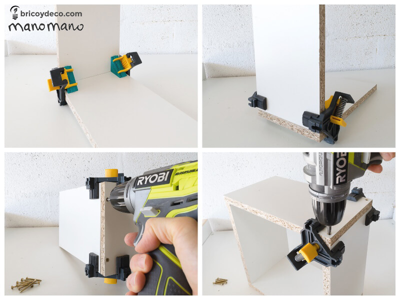 How To Make Intertwining Box Shelves thehandymano handy mano manomano crossover patterned tools materials CLAMP