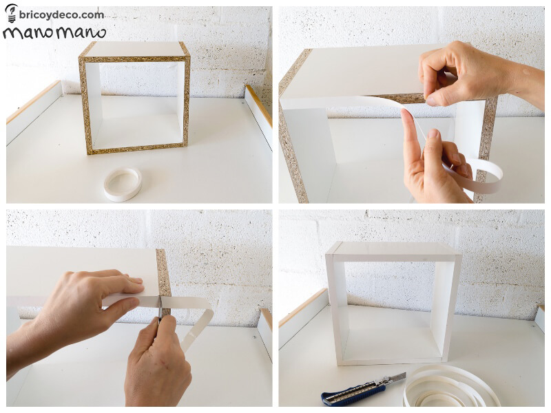 How To Make Intertwining Box Shelves thehandymano handy mano manomano crossover patterned tools materials tape construction
