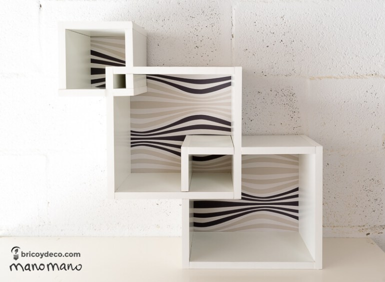 How To Make Intertwining Box Shelves thehandymano handy mano manomano crossover patterned