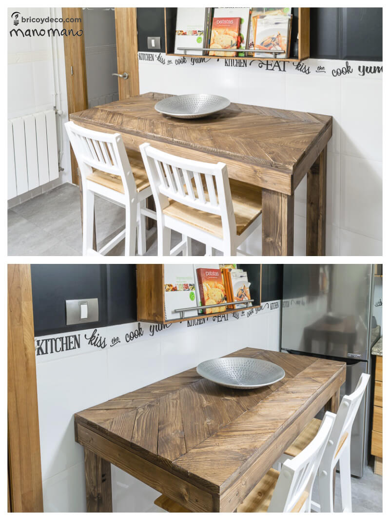 DIY Pallet Table the handy mano mano tutorial finished with bowl